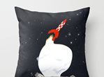 Funky cushion cover for kids room - Rocket