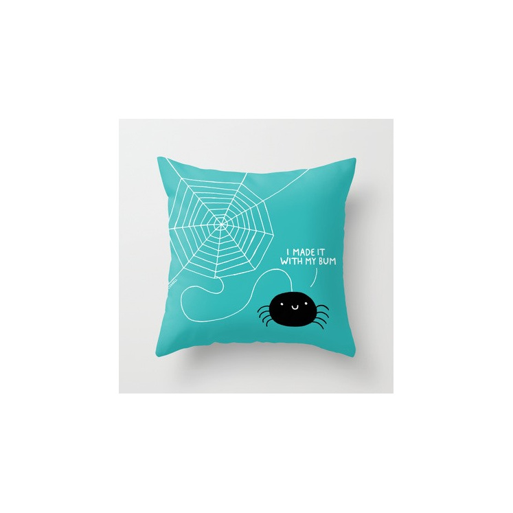 Funky cushion cover for kids room - spider bum