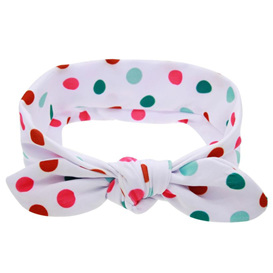 Funky Multi-coloured Spots Knot Hairband