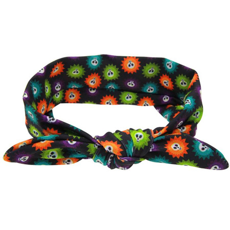 Funky Multi-coloured Stars & Skulls Knot Hairband