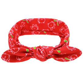 Funky Red Knot Hairband with Animal