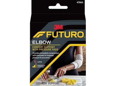 Futuro Comfort Elbow Support With Pressure Pads, Large