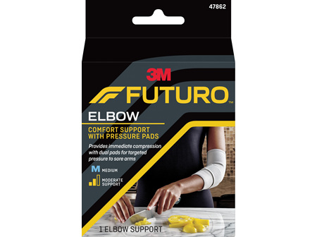 Futuro Comfort Elbow Support With Pressure Pads, Medium
