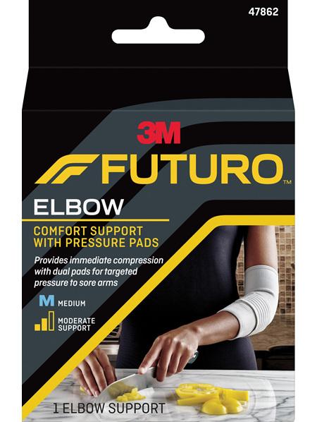Futuro Comfort Elbow Support With Pressure Pads, Medium
