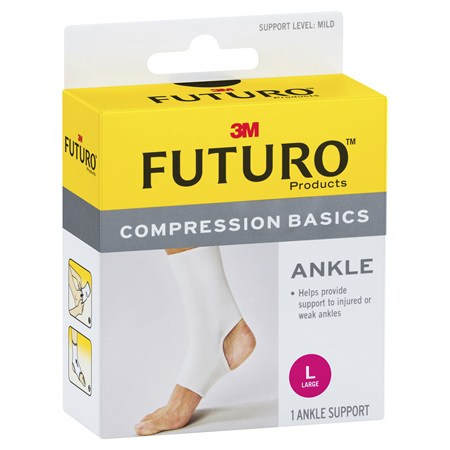 Futuro Compression Basics Elastic Ankle Brace Large