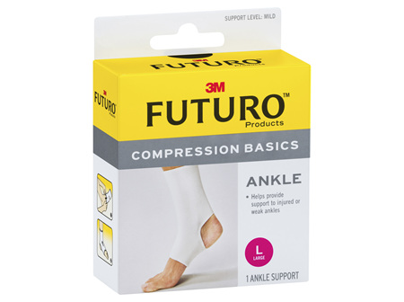 Futuro Compression Basics Elastic Ankle Brace Large