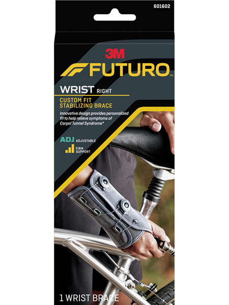 Futuro Custom Fit Stabilising Wrist Brace, Right Hand, Adjustable