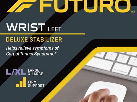 Futuro Deluxe Wrist Stabiliser, Left Hand, Large/Extra Large