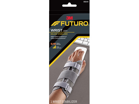Futuro Deluxe Wrist Stabiliser, Left Hand, Small/Medium