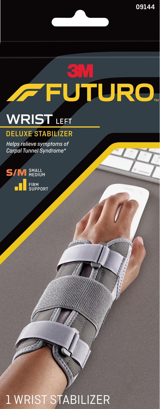 Futuro Deluxe Wrist Stabiliser, Left Hand, Small/Medium