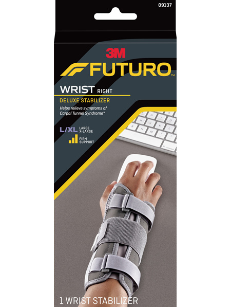 Futuro Deluxe Wrist Stabiliser, Right Hand, Large/Extra Large