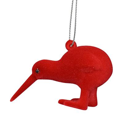 Fuzzy Flock Kiwi: Red