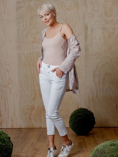 Gabrielle Jogger Jean - White