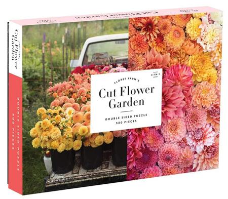 Galison 500 Piece: Floret Farm's Cut Flower Garden  Double-Sided Jigsaw Puzzle