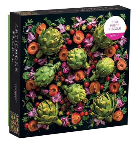 Galison 500 Piece Jigsaw Puzzle: Artichoke Floral