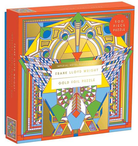 Galison 500 Piece Jigsaw Puzzle: Frank Lloyd Wright Imperial Hotel Peacock Rug