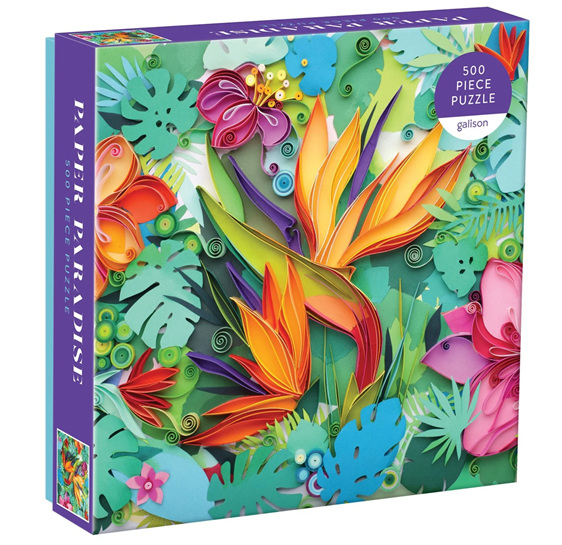 Galison 500 Piece Jigsaw Puzzle: Paper Paradise buy at www.puzzlesnz.co.nz