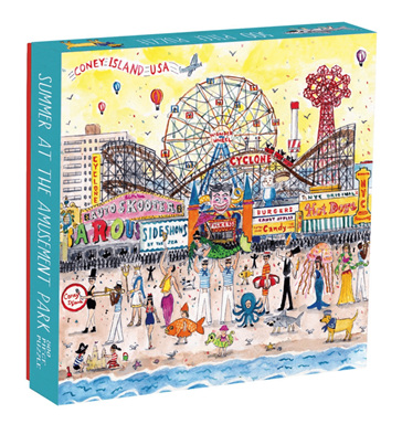 Galison 500 Piece Jigsaw Puzzle: Summer At The Amusement Park