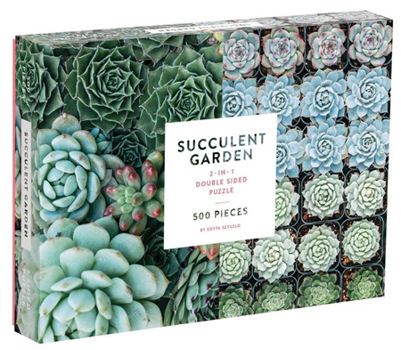 Galison 500 Piece: Suculent Garden  Double-Sided Jigsaw Puzzle