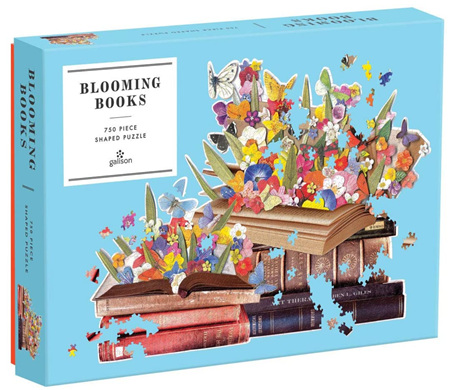 Galison Blooming Books 750pc Shaped Jigsaw Puzzle