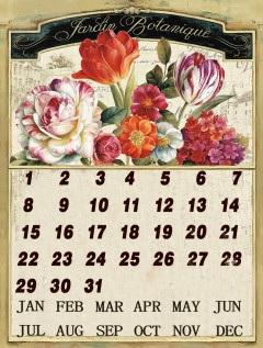 Garden Colour Metal Calendar