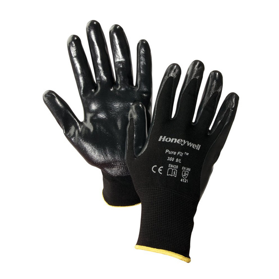 Garden gloves with Nitrile palm and fingertip coating