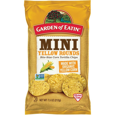Garden of Eatin Corn Tortilla Chips Mini Yellow Round 212g
