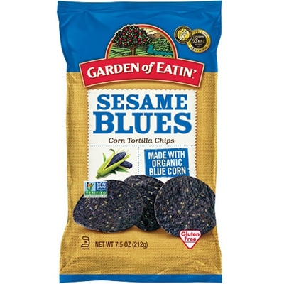 Garden of Eatin Corn Tortilla Chips Sesame Blues 212g