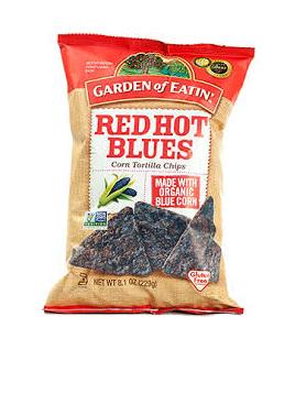 Garden of Eatin Organic Corn Tortilla Chips Red Hot Blues 229g