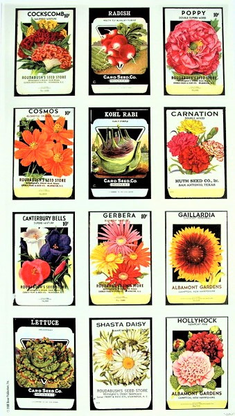 Garden Seed Packet Stickers