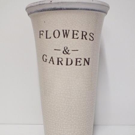 Garden vase Cream Large  C3019