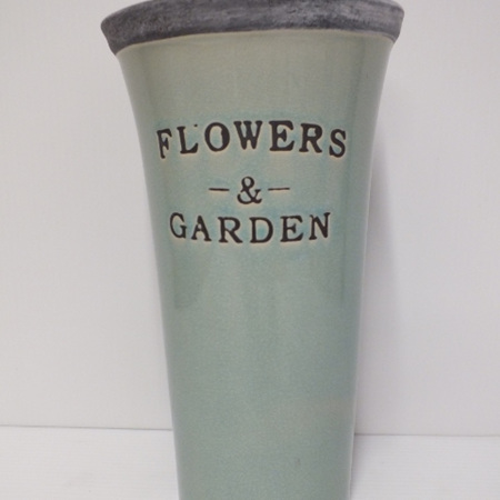 Garden vase Duck egg blue Medium C3017