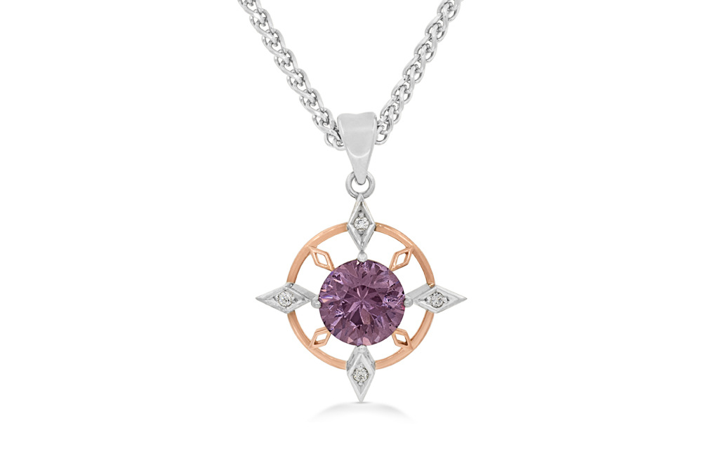 silver pendant diamond amethyst necklace kay zm en purple accent mv sterling kaystore