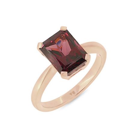 Garnet Solitaire Ring
