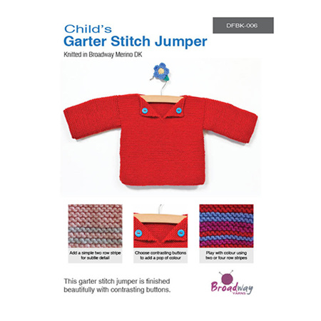 Garter Stitch Jumper - Childs Pattern by Broadway Yarns