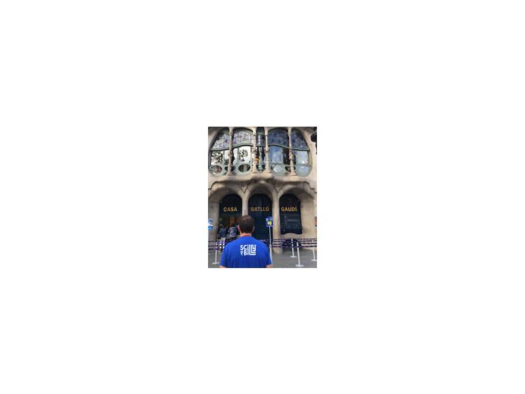 Scilly Billy at Gaudi's Casa Batllo