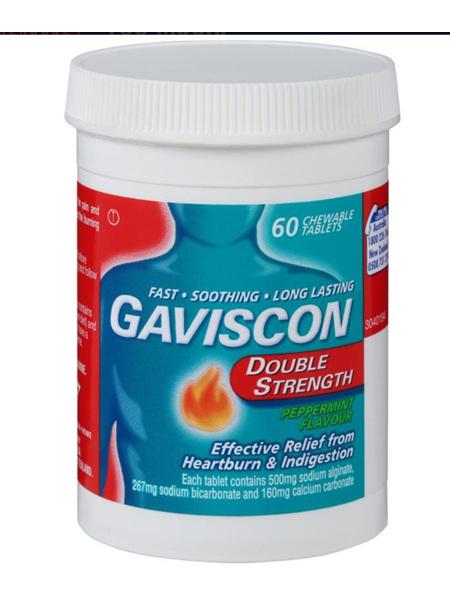 GAVISCON Double Str. P/M Chew 60Tab
