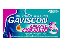 Gaviscon Dual Action Chewable Tablets Peppermint Heartburn & Indigestion Relief