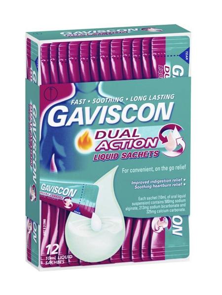 GAVISCON Dual Action Liq Sachet 12pk