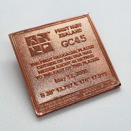 "GC45 Tribute ""21 Years Edition"" Copper X LE Geocoin"