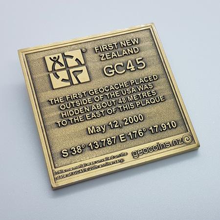 GC45 Tribute Antique Bronze Geocoin