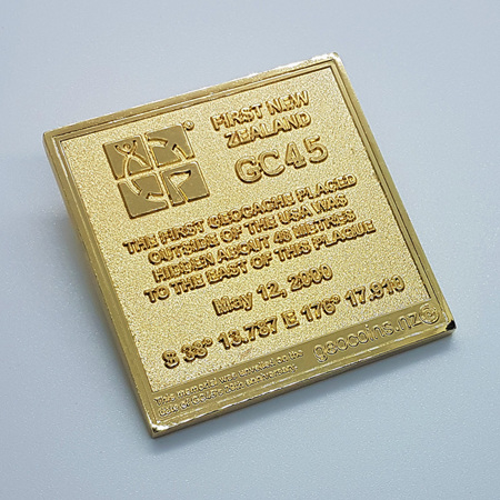 GC45 Tribute Gold XLE Geocoin