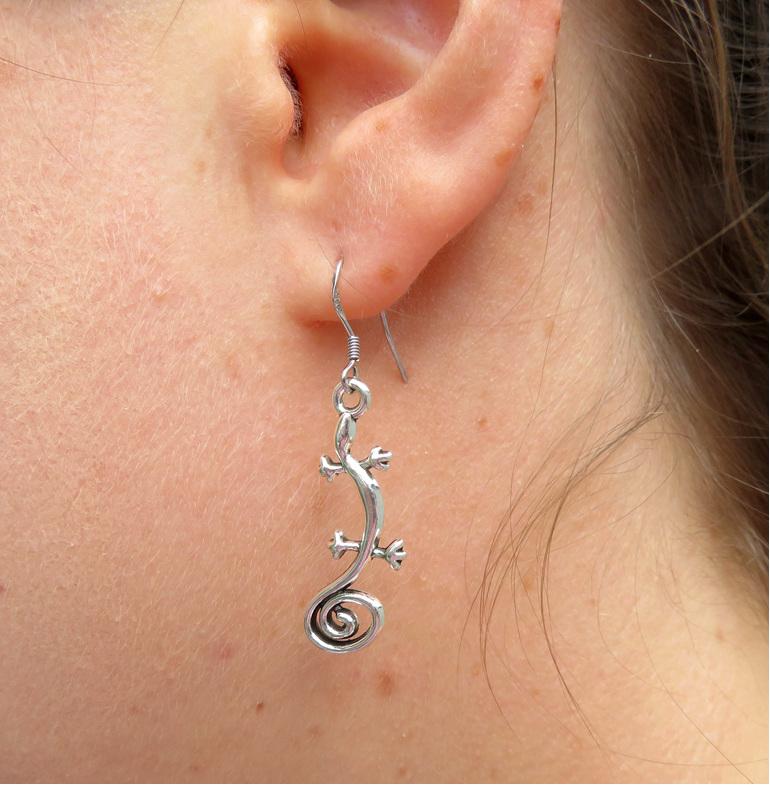 Gecko earrings