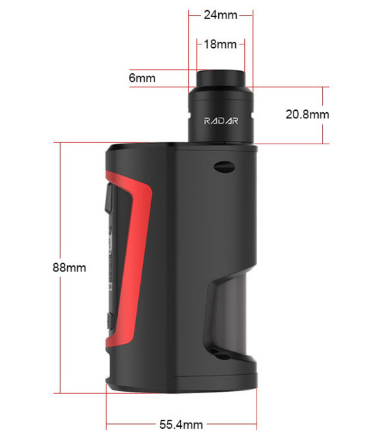 Geekvape GBOX Squonk 200W Mod Kit with Radar RDA Atomizer