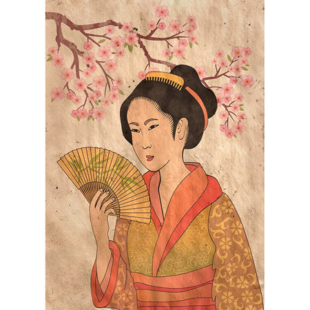 Geisha Decoupage Paper by Mint
