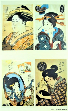 Geisha Rub-On Craft Transfers