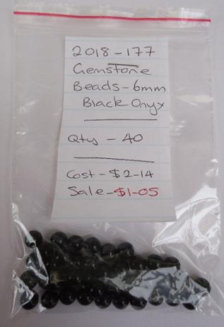 Gemstone Beads - Black Onyx - 6mm