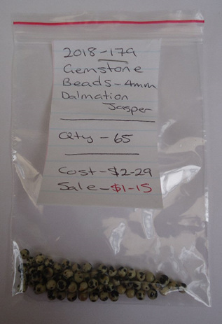 Gemstone Beads - Dalmation Jasper - 4mm