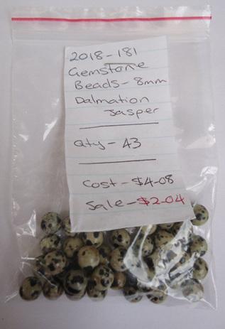 Gemstone Beads - Dalmation Jasper - 8mm