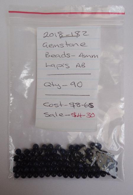 Gemstone Beads - Lapis AB - 4mm
